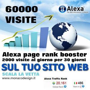 alexa pagerank booster - Acquistare visite sito alexa