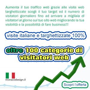 Traffico web it da visite italiane targhettizzate