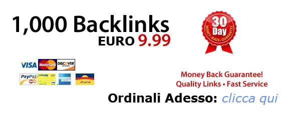 1000 Backlink, link popularity e visibilità web
