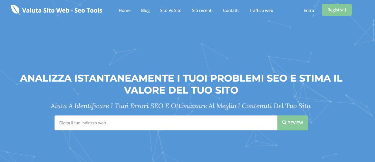 Scopri il valore sito con Valutasitoweb