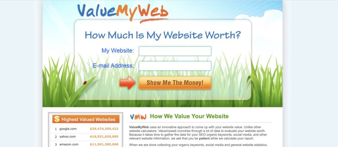 Value my web