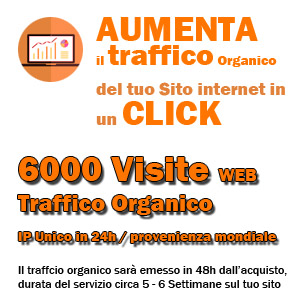 Traffico Organico 6000 visite web