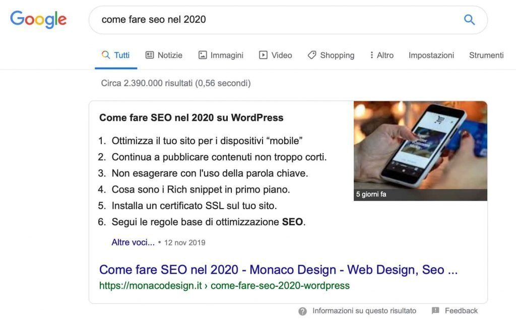 Rich Snippet Google