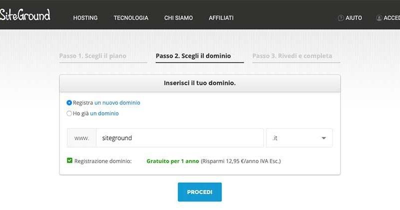 Registrazione dominio e hosting