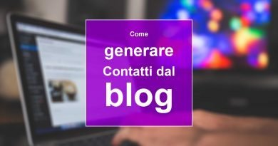 Come generare contatti dal blog