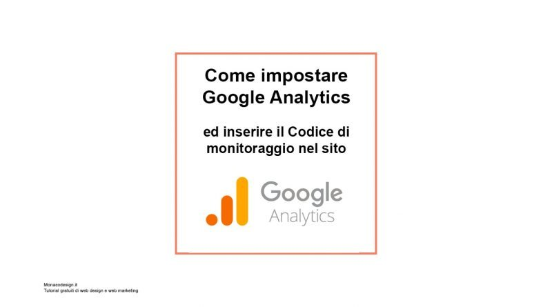 Come impostare Google Analytics