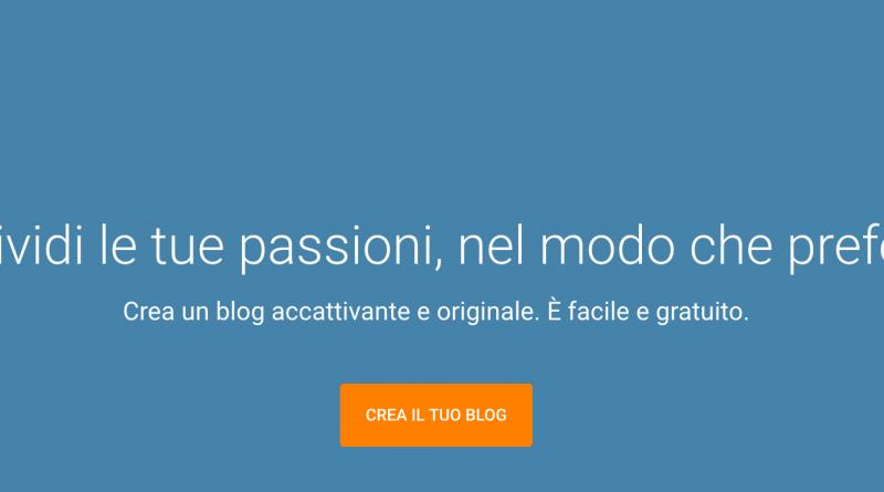 Creare un blog con blogger