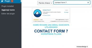 Come inviare una email nascosta in contact form 7