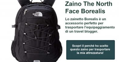 Zaino the North Face un ottimo accessorio per fare il Travel Blogger