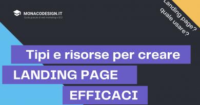 Esempi landing page e risorse