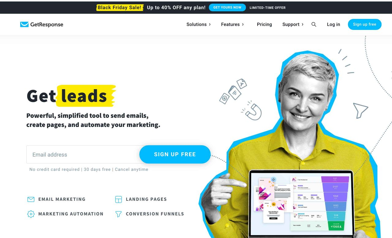 Creare landing page