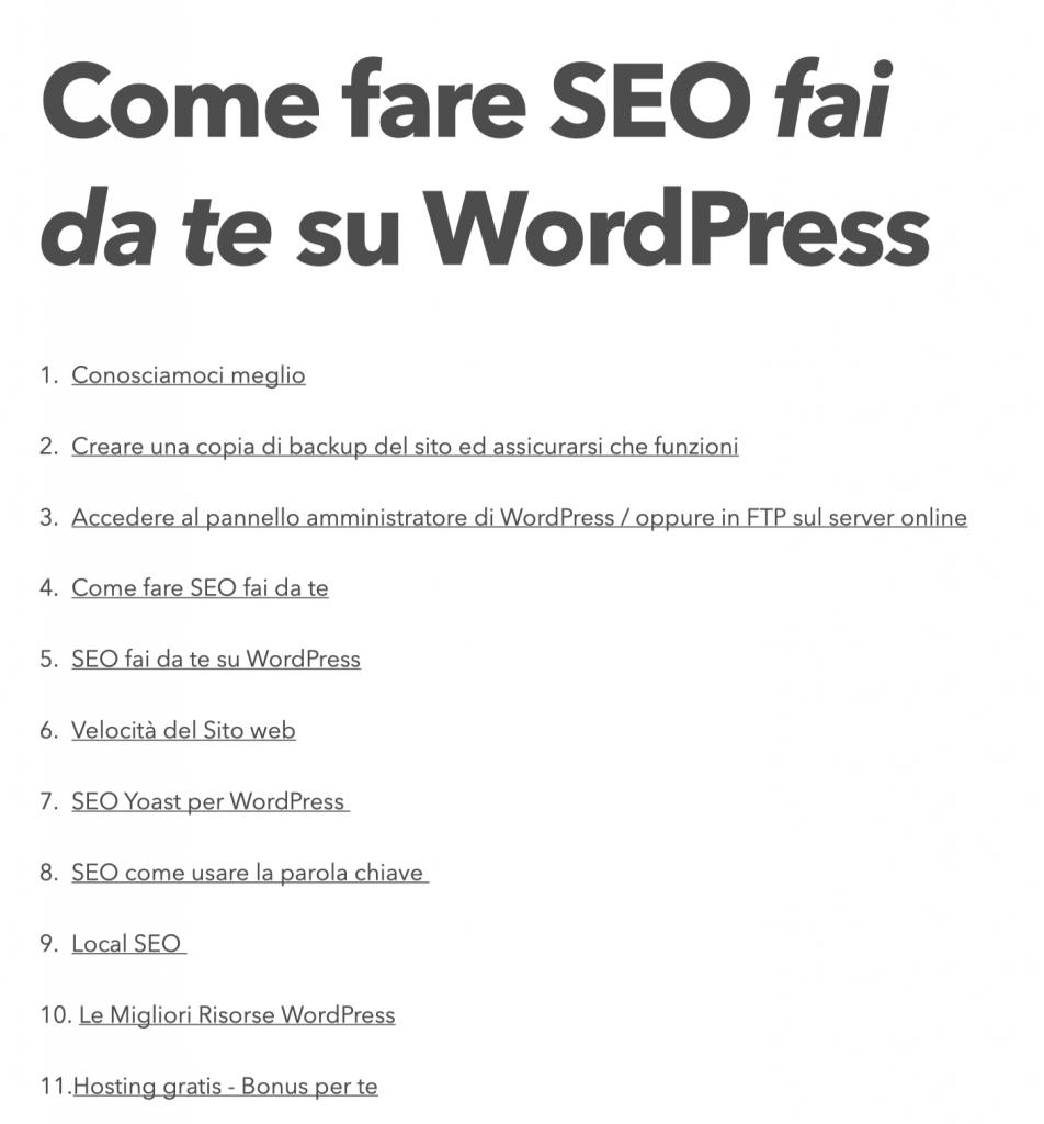 come fare seo su wordPress da soli