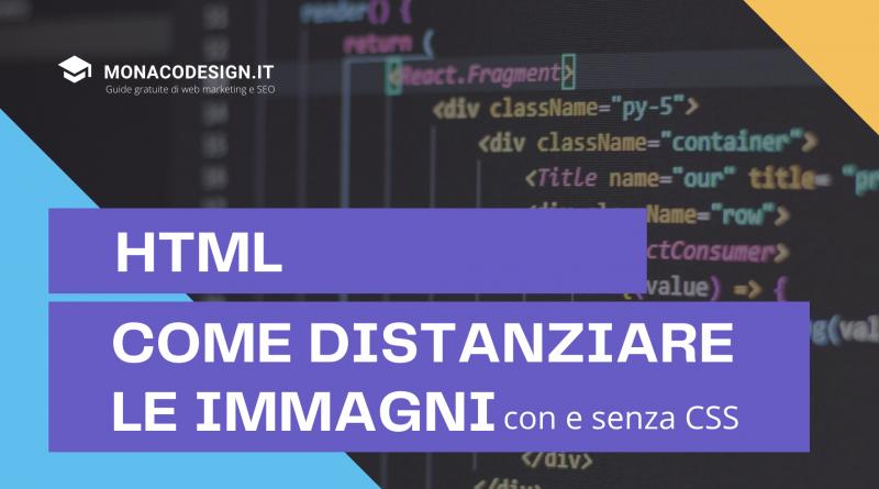 Come distanziare immagini html