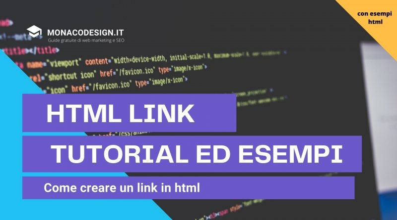 HTML LINK Tutorial ed Esempi