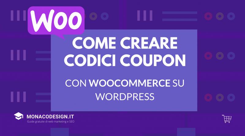 Come creare un codice coupon woocommerce